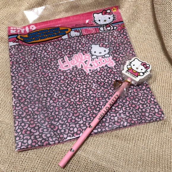 Other - Hello Kitty book sleeve/cover and pencil set